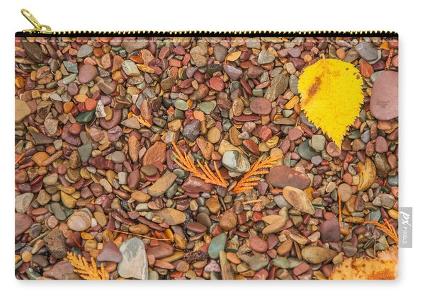 Beach Pebbles Of Montana Carry-all Pouch
