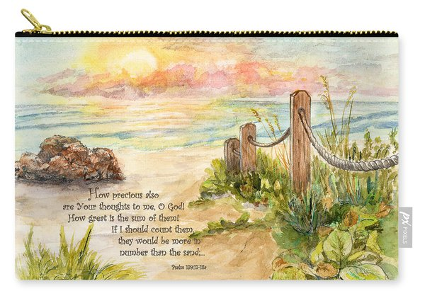 Beach Post Sunrise Psalm 139 Carry-all Pouch