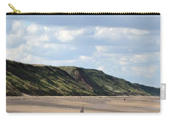 Carry-all Pouch featuring the photograph Beach - Saltburn Hills - Uk by Scott Lyons