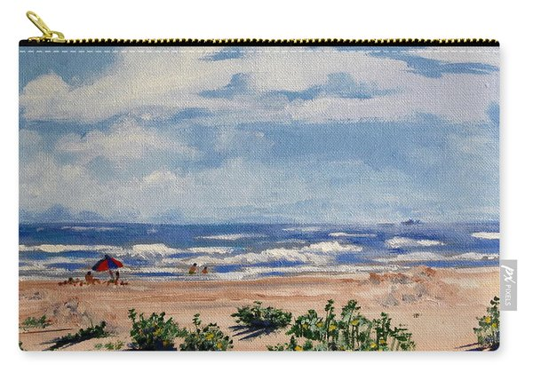 Beach Scene On Galveston Island Carry-all Pouch