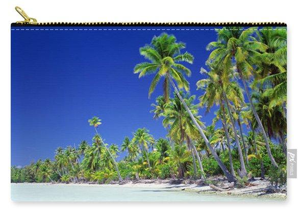 Beach With Palm Trees, Bora Bora, Tahiti Carry-all Pouch