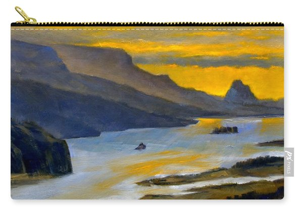 Beacon Rock From Oregon Side Carry-all Pouch