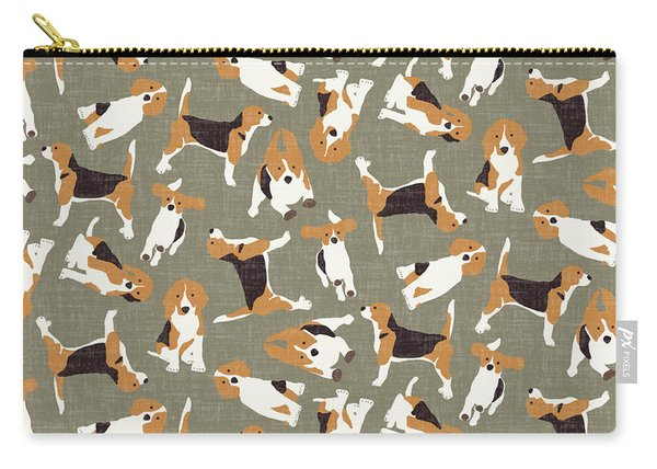 Beagle Scatter Stone Carry-all Pouch