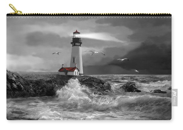 Beam Of Hope In Black And White Carry-all Pouch