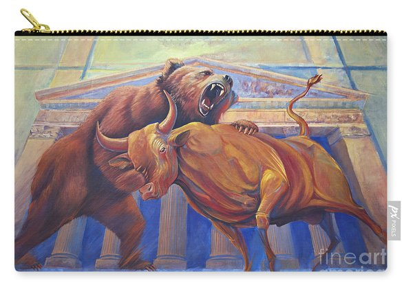 Bear Vs Bull Carry-all Pouch