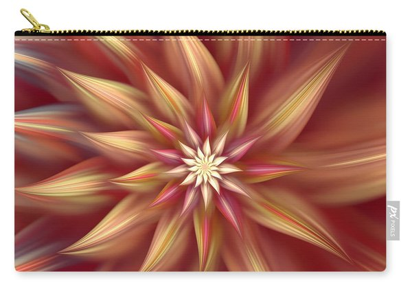 Beautiful Dahlia Abstract Carry-all Pouch