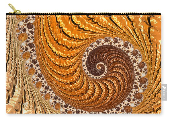 Beautiful Luxe Golden And Brown Spiral Carry-all Pouch