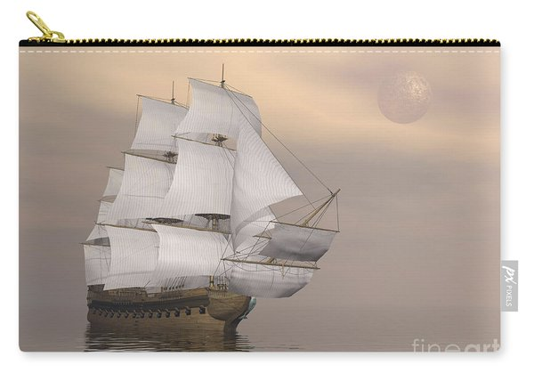Beautiful Old Merchant Ship Sailing Carry-all Pouch