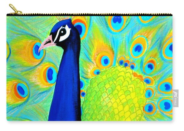 Beautiful Peacock Card Carry-all Pouch