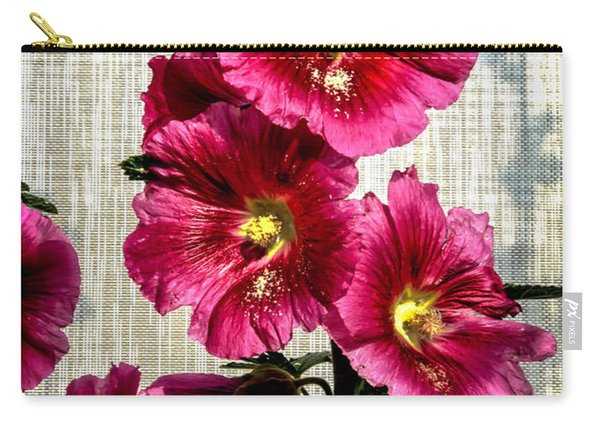 Beautiful Red Hollyhock Carry-all Pouch