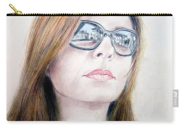 Beauty Wearing Sunglasss  Carry-all Pouch