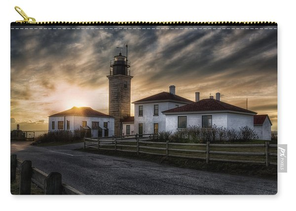 Beavertail Lighthouse Sunset Carry-all Pouch