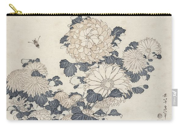 Bee And Chrysanthemums Carry-all Pouch