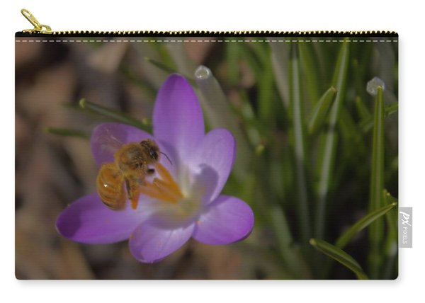 Bee And Crocus 3 Carry-all Pouch
