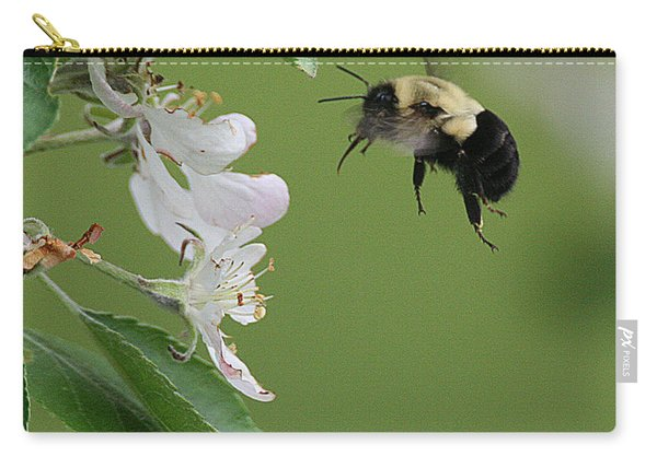 Bee With Apple Blossoms Carry-all Pouch