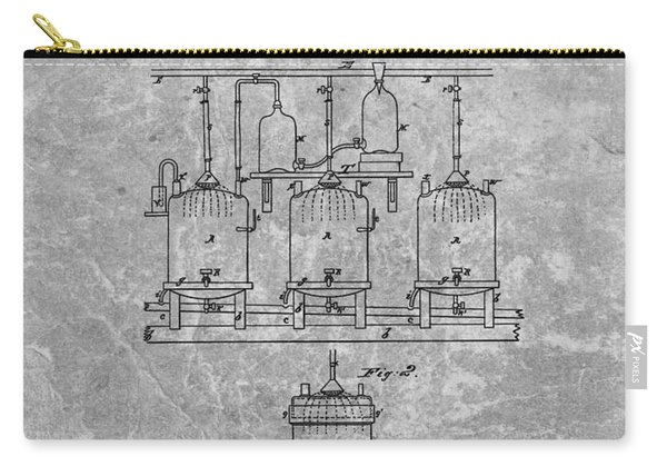 Beer Brewery Patent Charcoal Carry-all Pouch