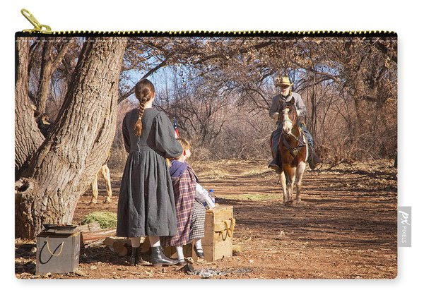 Carry-all Pouch featuring the photograph Before The Battle For Socorro by Mary Lee Dereske