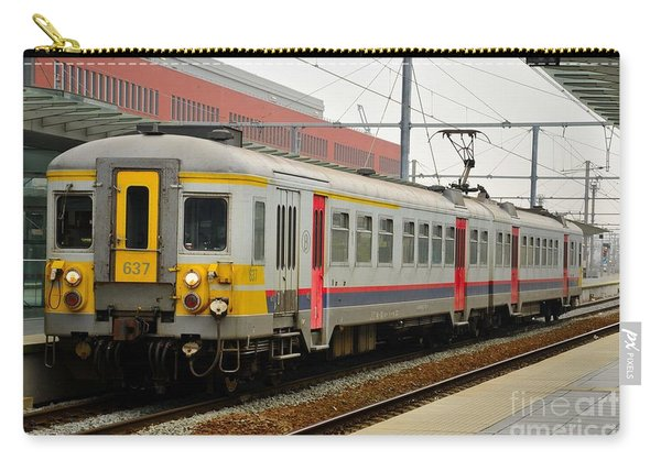 Belgium Railways Commuter Train At Brugge Railway Station Carry-all Pouch