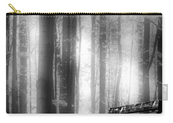 Bench In Michigan Woods Carry-all Pouch
