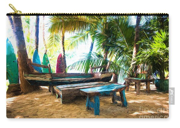 Benches Made From Boats Carry-all Pouch
