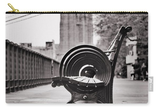 Bench's Circles And Brooklyn Bridge - Brooklyn Heights Promenade - New York City Carry-all Pouch