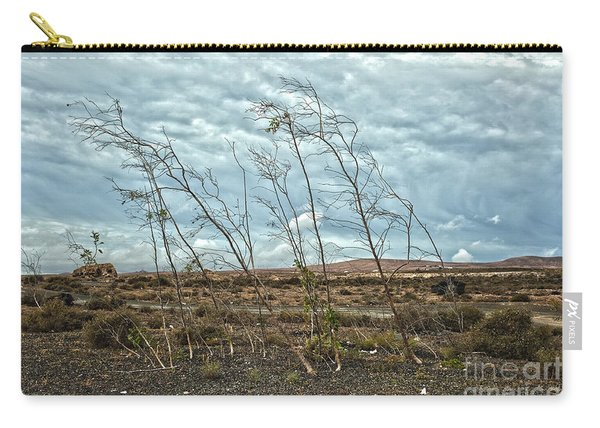 Bent Plants In The Wind Carry-all Pouch