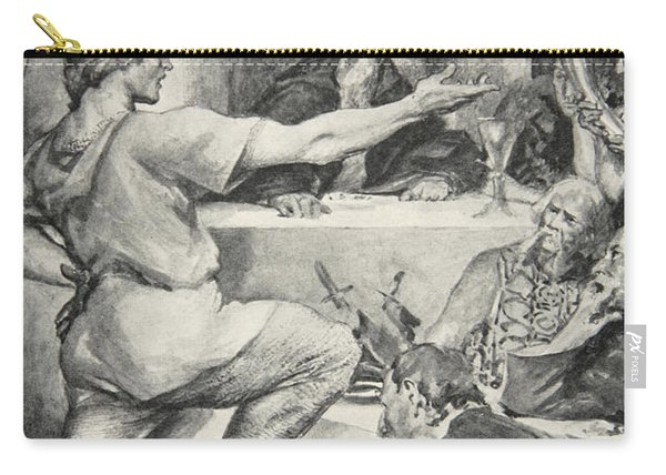Beowulf Replies Haughtily To Hunferth Carry-all Pouch