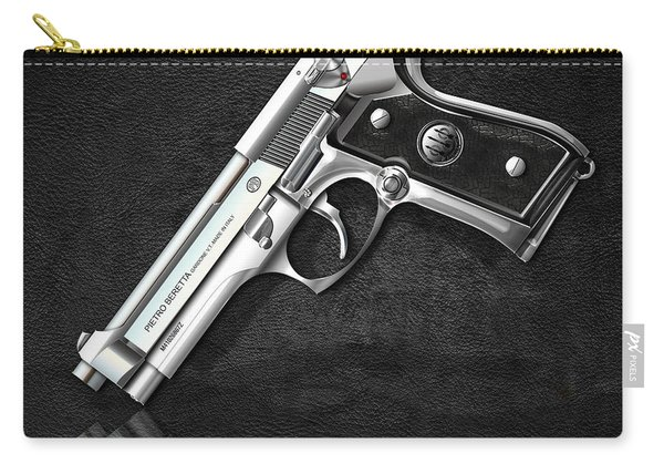 Beretta 92fs Inox Over Black Leather Carry-all Pouch