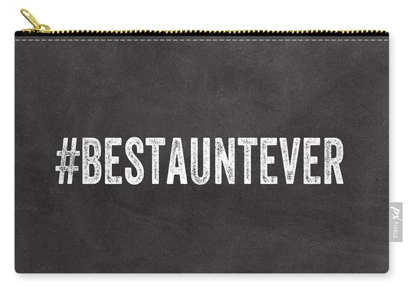 Best Aunt- Greeting Card Carry-all Pouch
