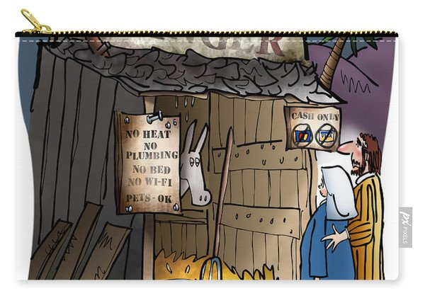 Carry-all Pouch featuring the digital art Bethlehem Manger by Mark Armstrong