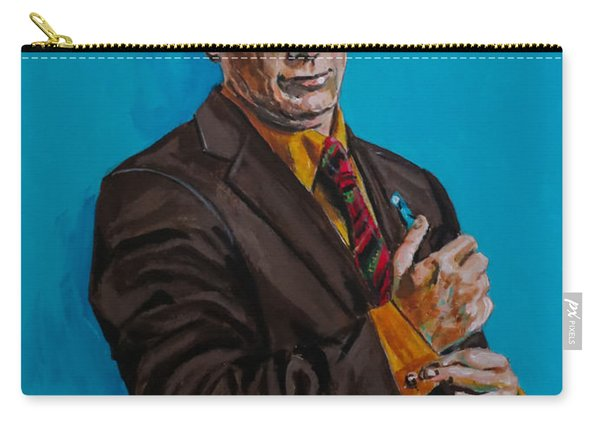 Carry-all Pouch featuring the painting Better Call Saul by Joel Tesch