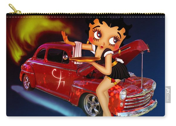 Betty Boop Service1-featued In Comfortable Art Group Carry-all Pouch