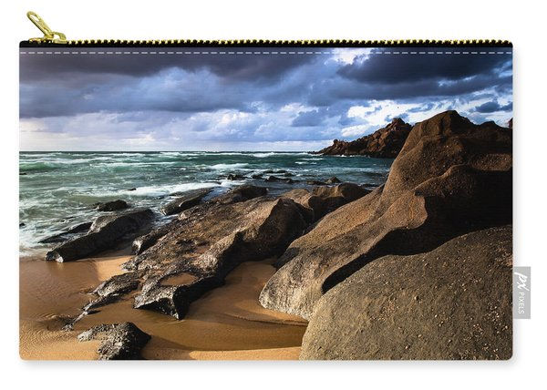 Between Rocks And Water Carry-all Pouch