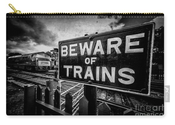 Beware Of Trains Carry-all Pouch