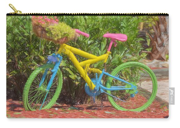 Bicycle Of Colors Carry-all Pouch