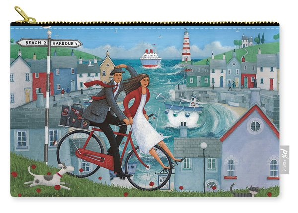 Bicycle Seascape Carry-all Pouch