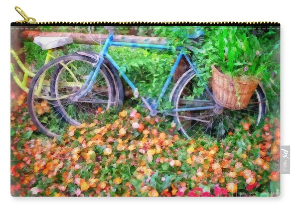 Bicycles In The Garden Carry-all Pouch