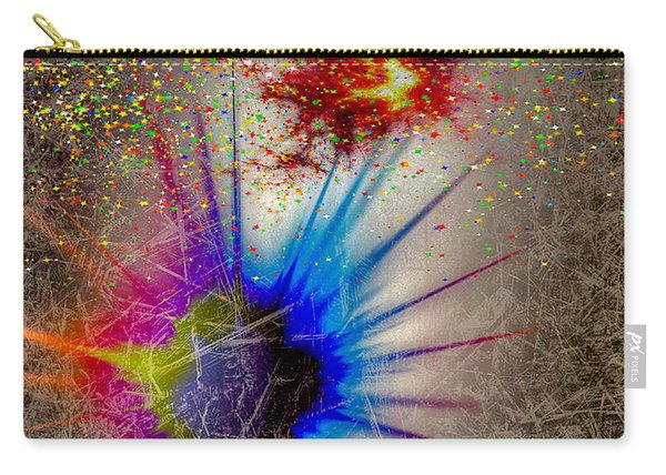Carry-all Pouch featuring the digital art Big Bang by Eleni Mac Synodinos