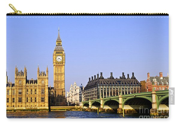 Big Ben And Westminster Bridge Carry-all Pouch