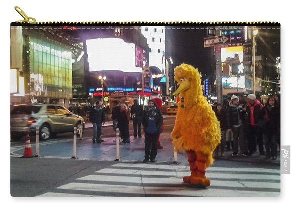 Big Bird On Times Square Carry-all Pouch