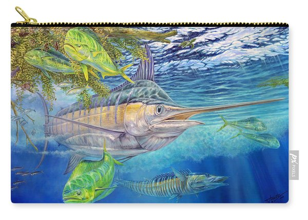 Big Blue Hunting In The Weeds Carry-all Pouch