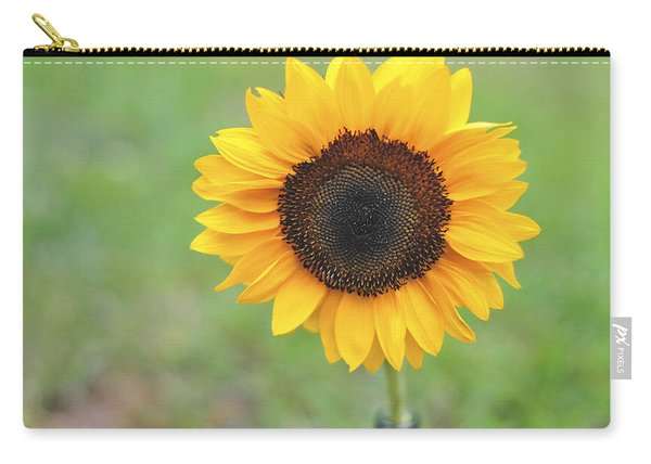 Big Bright Yellow Colorful Sunflower Art Print Carry-all Pouch