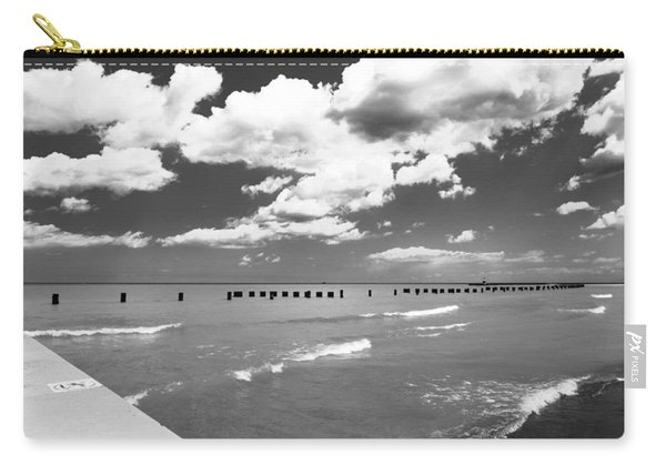 Big Lake Clouds Black White Carry-all Pouch