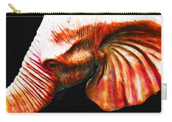 Big Red - Elephant Art Painting Carry-all Pouch
