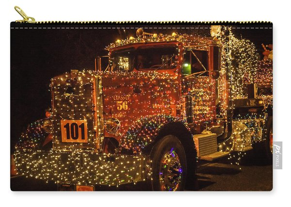 Big Rig With Christmas Lights Carry-all Pouch