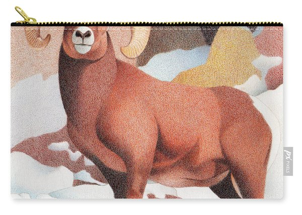Bighorn Sheep Winter Carry-all Pouch