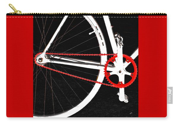 Bike In Black White And Red No 2 Carry-all Pouch