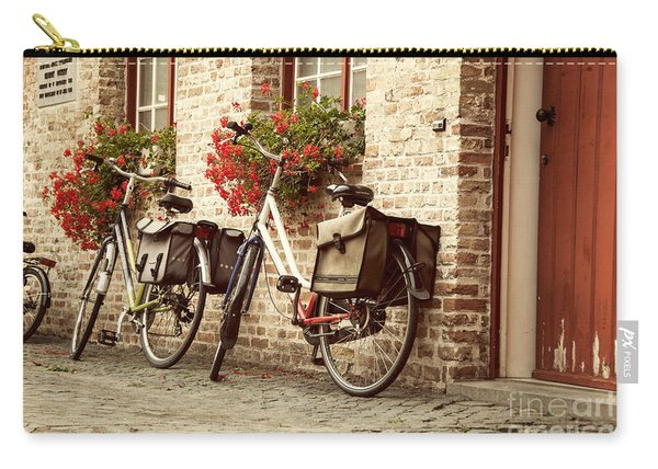 Bikes In The School Yard Carry-all Pouch