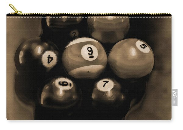 Billiards Art - Your Break - Bw Opal Carry-all Pouch
