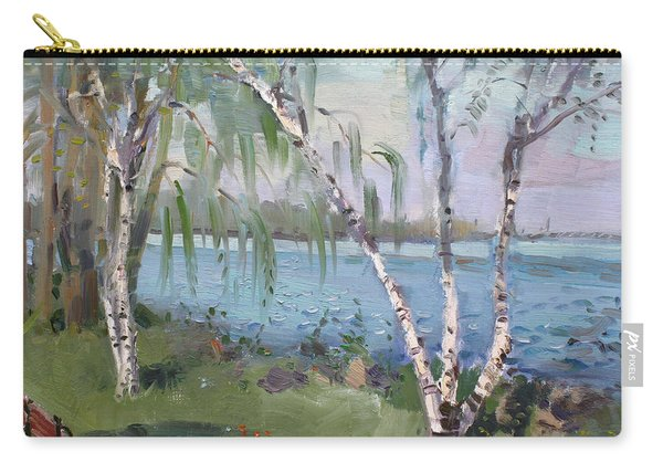 Birch Trees By The River Carry-all Pouch